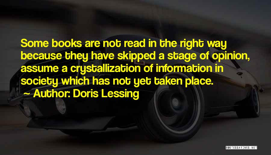Crystallization Quotes By Doris Lessing