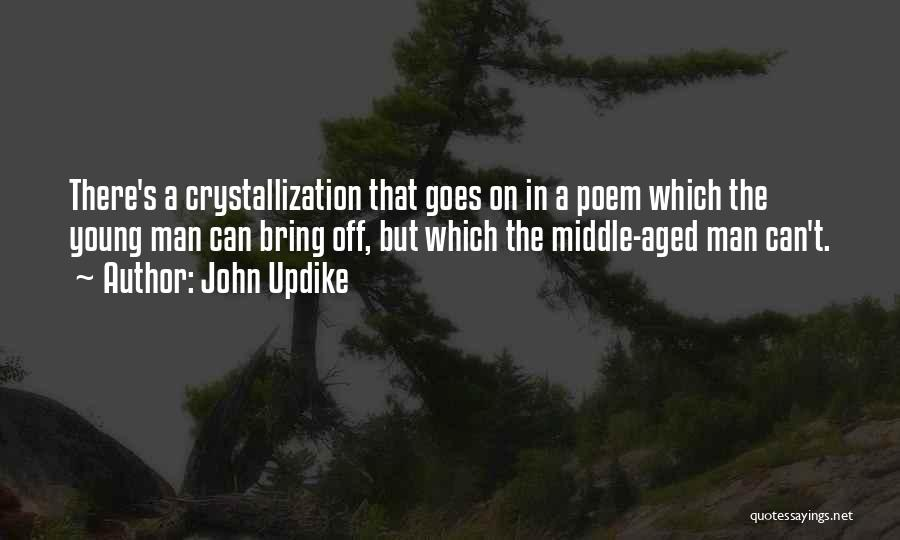 Crystallization Quotes By John Updike