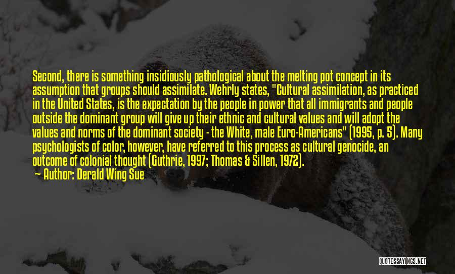 Cultural Assimilation Quotes By Derald Wing Sue