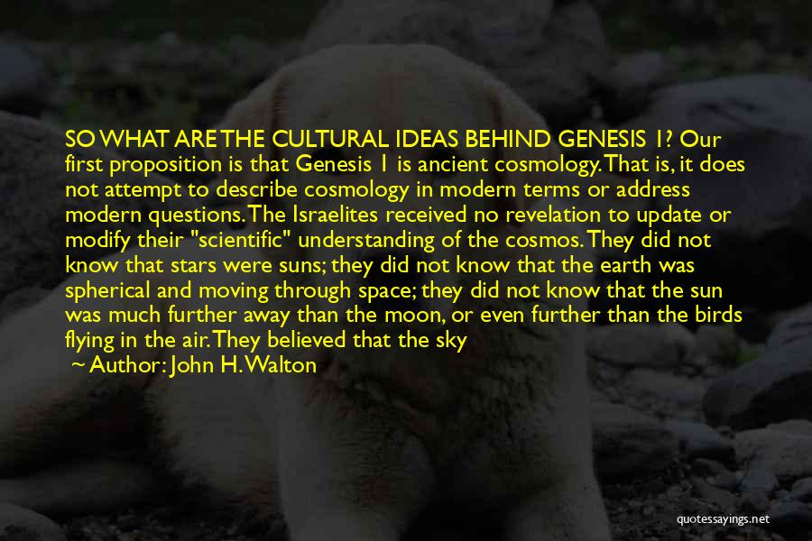 Cultural Understanding Quotes By John H. Walton