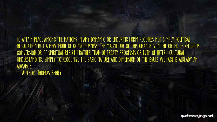 Cultural Understanding Quotes By Thomas Berry