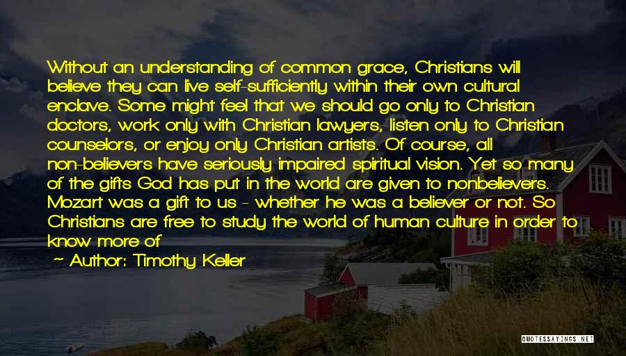 Cultural Understanding Quotes By Timothy Keller