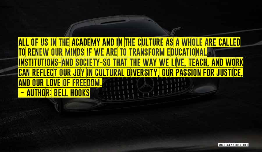 Culture And Diversity Quotes By Bell Hooks