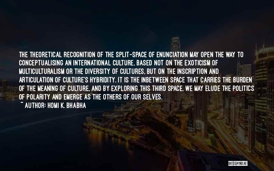 Culture And Diversity Quotes By Homi K. Bhabha