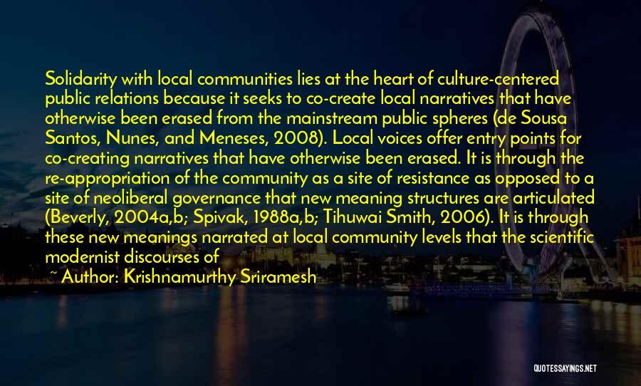 Culture And Diversity Quotes By Krishnamurthy Sriramesh