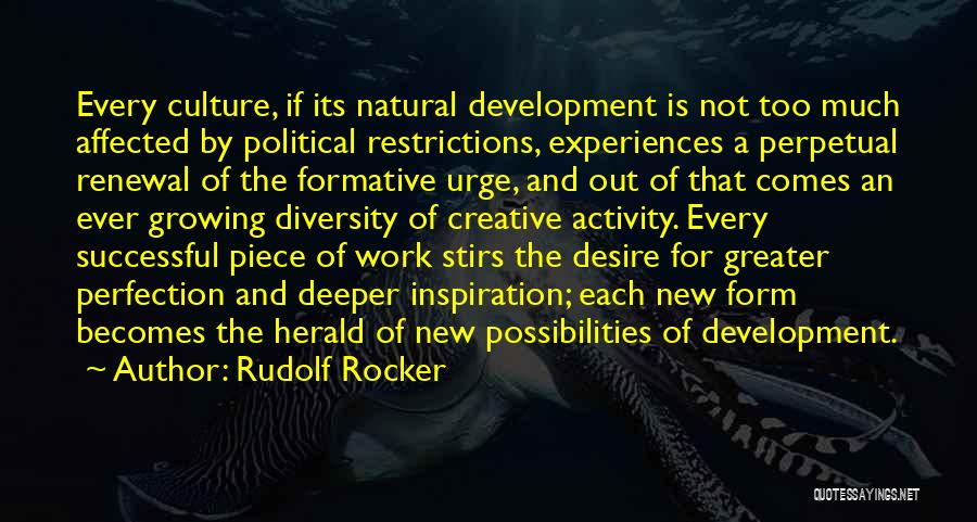 Culture And Diversity Quotes By Rudolf Rocker