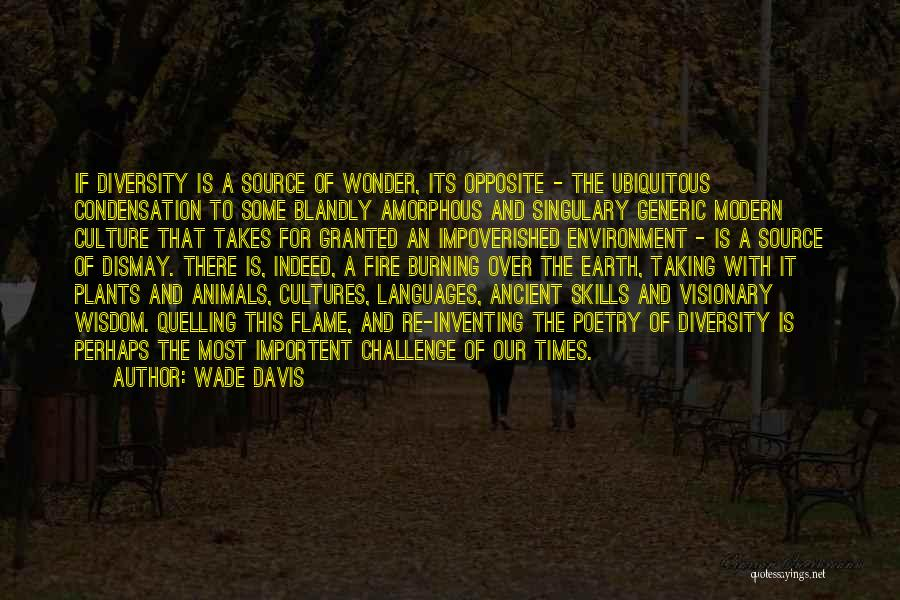 Culture And Diversity Quotes By Wade Davis