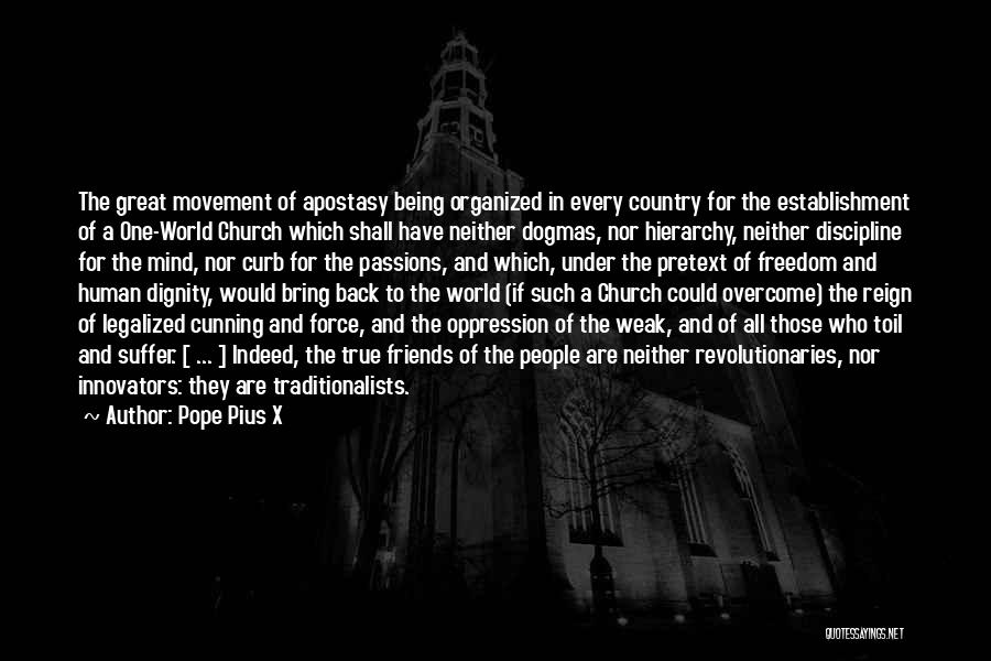 Cunning Friends Quotes By Pope Pius X