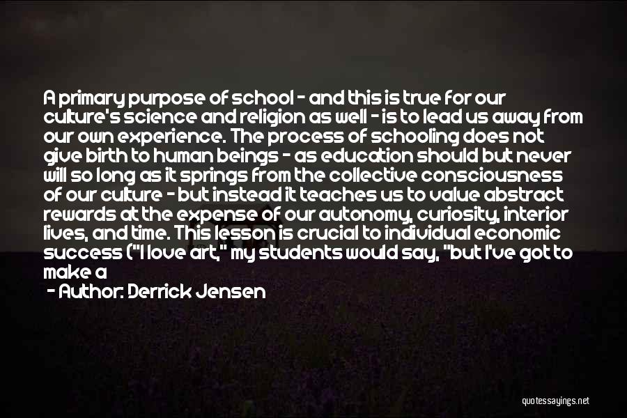 Curiosity And Love Quotes By Derrick Jensen