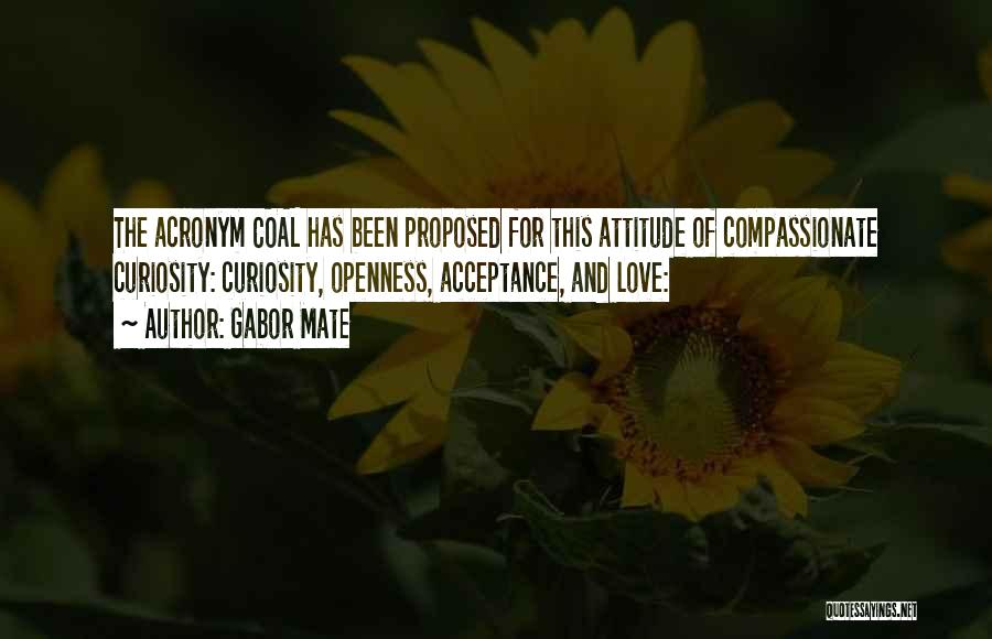 Curiosity And Love Quotes By Gabor Mate