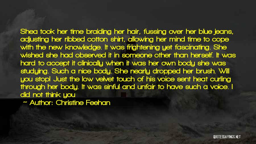 Curling Hair Quotes By Christine Feehan