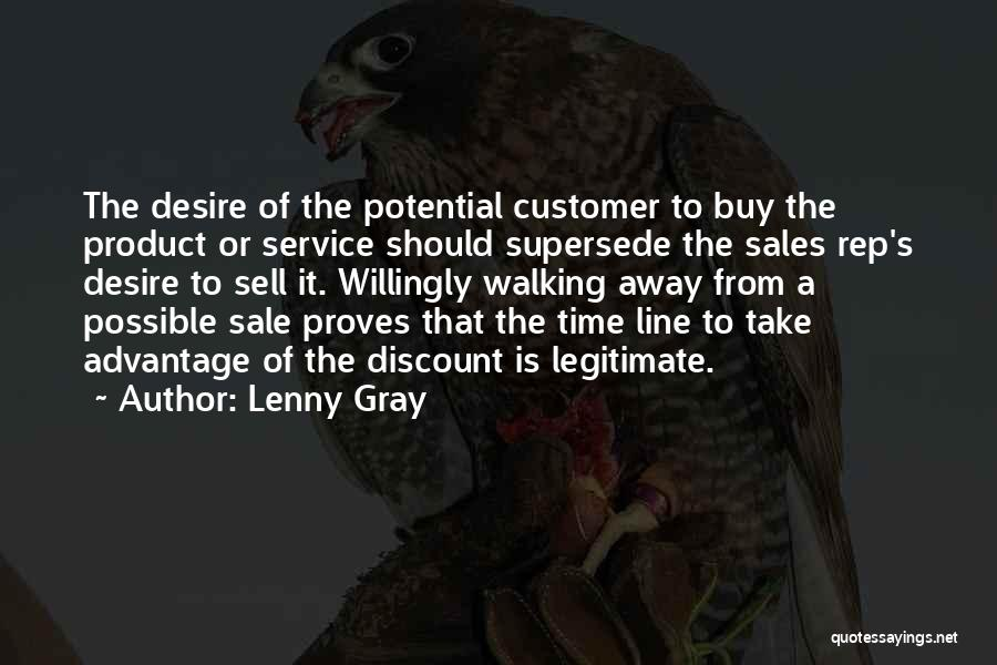 Customer Service Rep Quotes By Lenny Gray