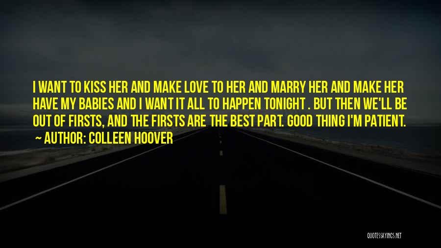 Cute Babies Love Quotes By Colleen Hoover