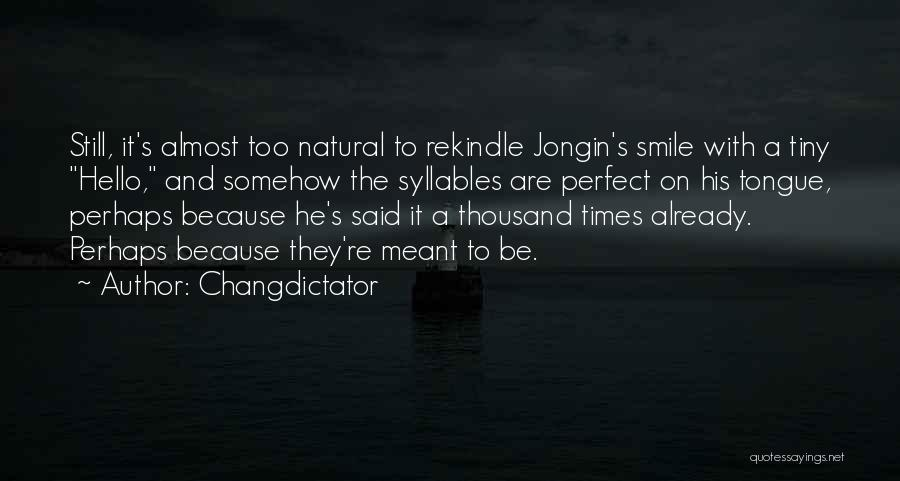 Cute Not Perfect Quotes By Changdictator