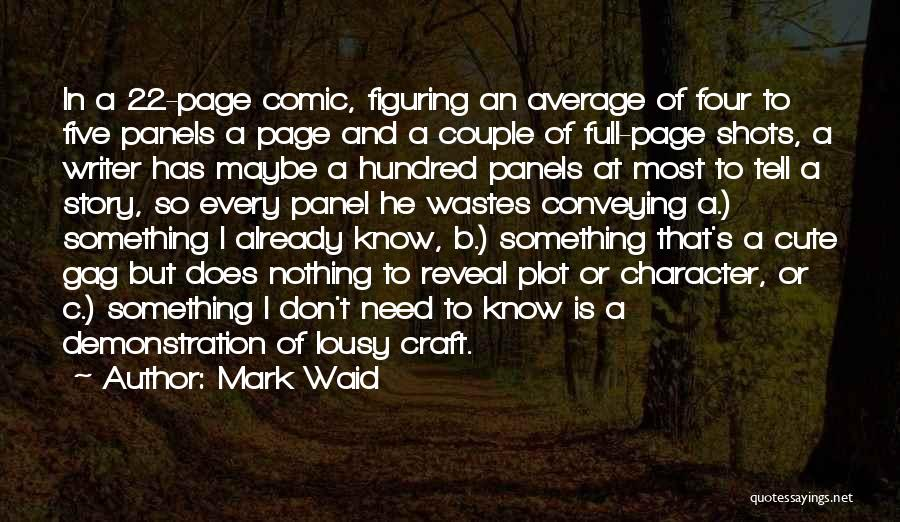 Cute Story Book Quotes By Mark Waid