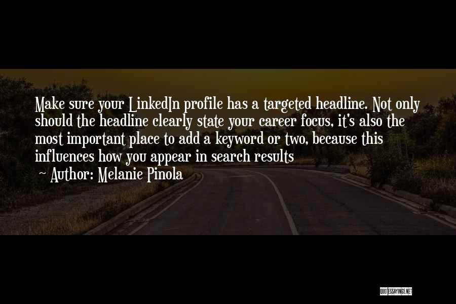 Cv Profile Quotes By Melanie Pinola