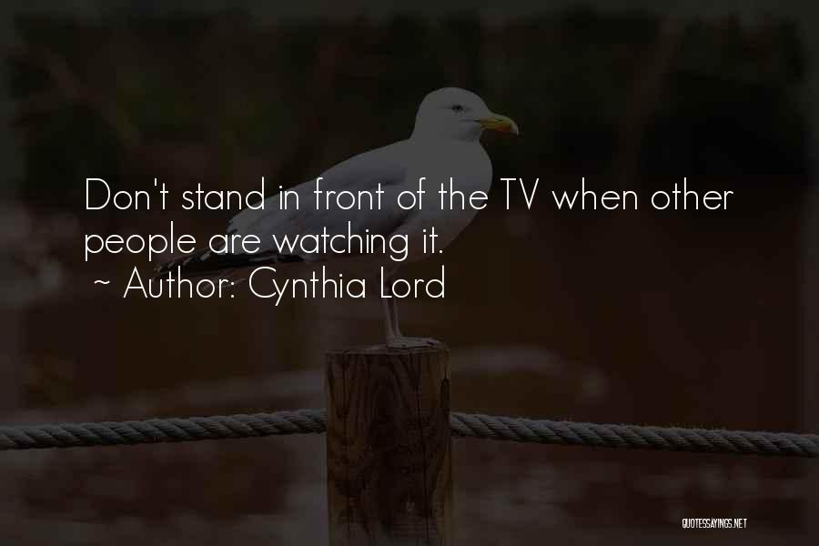 Cynthia Lord Quotes 1694578