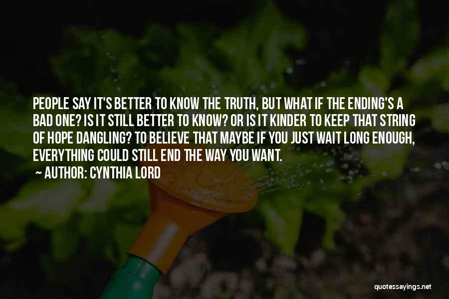 Cynthia Lord Quotes 1962302