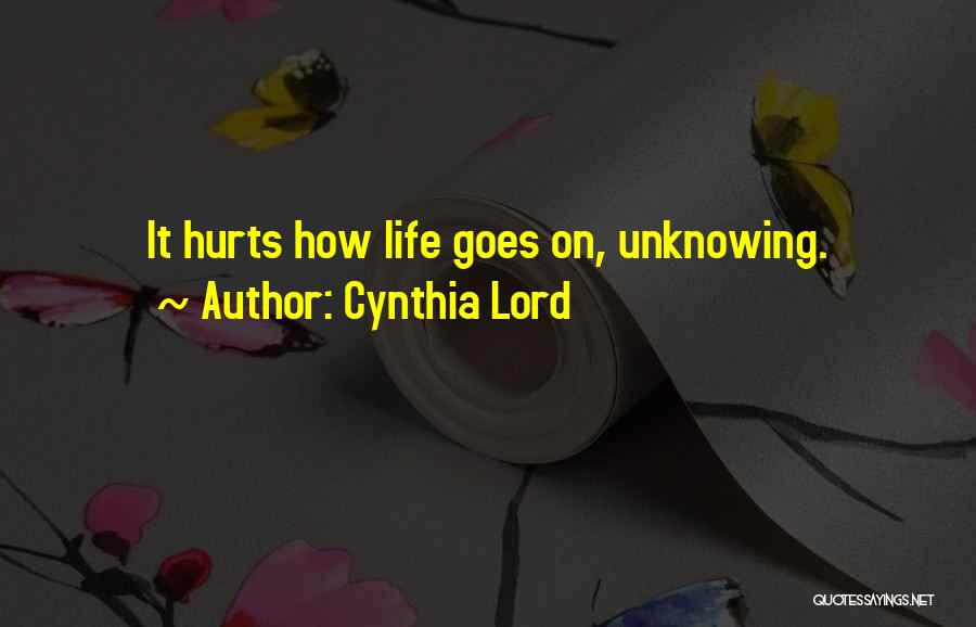 Cynthia Lord Quotes 2247853