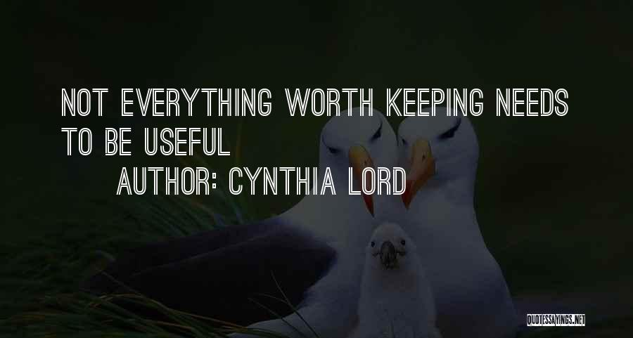 Cynthia Lord Quotes 500706