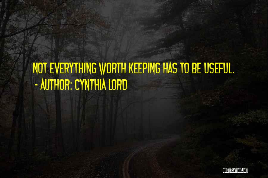 Cynthia Lord Quotes 565829