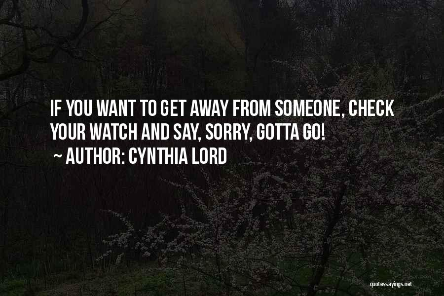 Cynthia Lord Quotes 835848