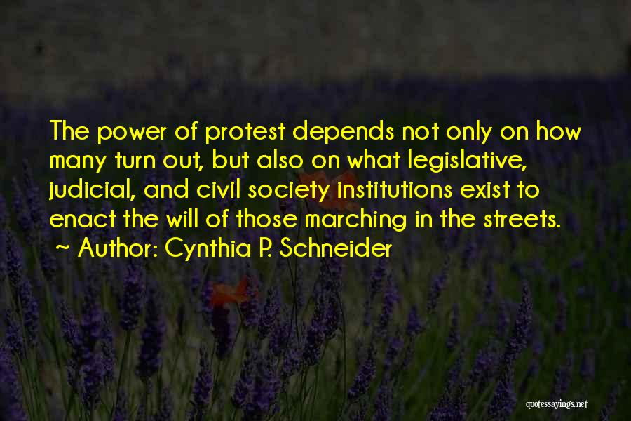 Cynthia Quotes By Cynthia P. Schneider