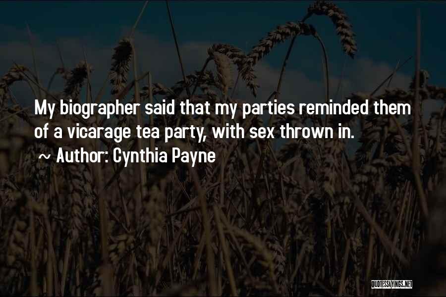 Cynthia Quotes By Cynthia Payne