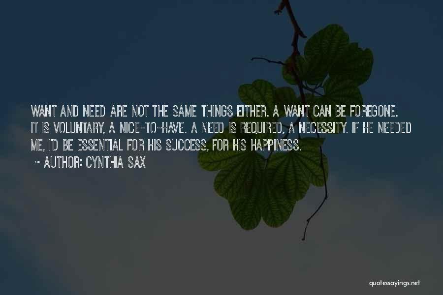 Cynthia Sax Quotes 536859