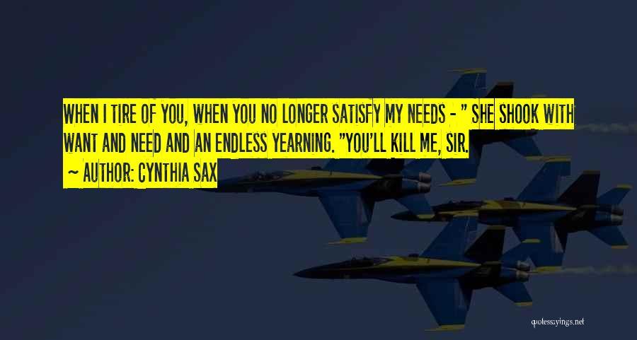 Cynthia Sax Quotes 767998