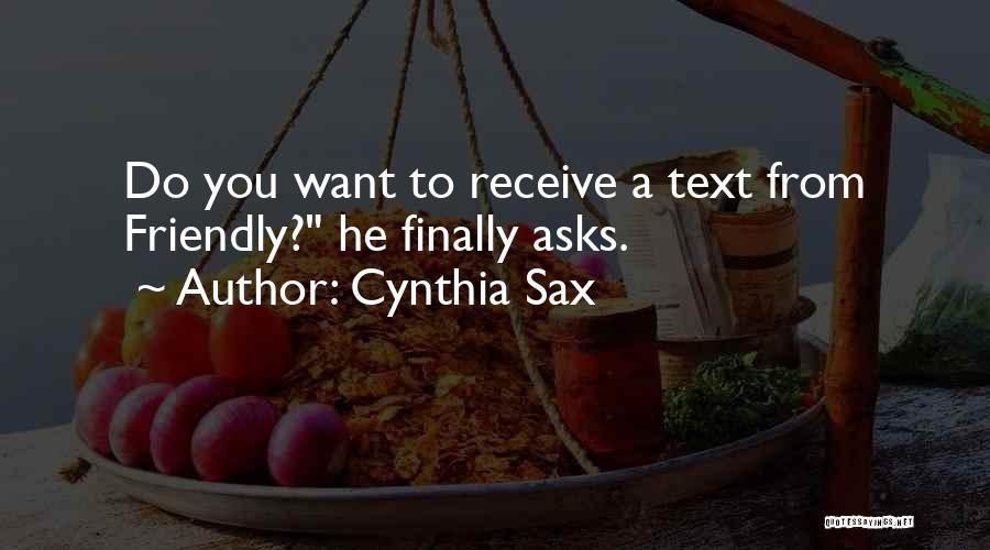 Cynthia Sax Quotes 911271