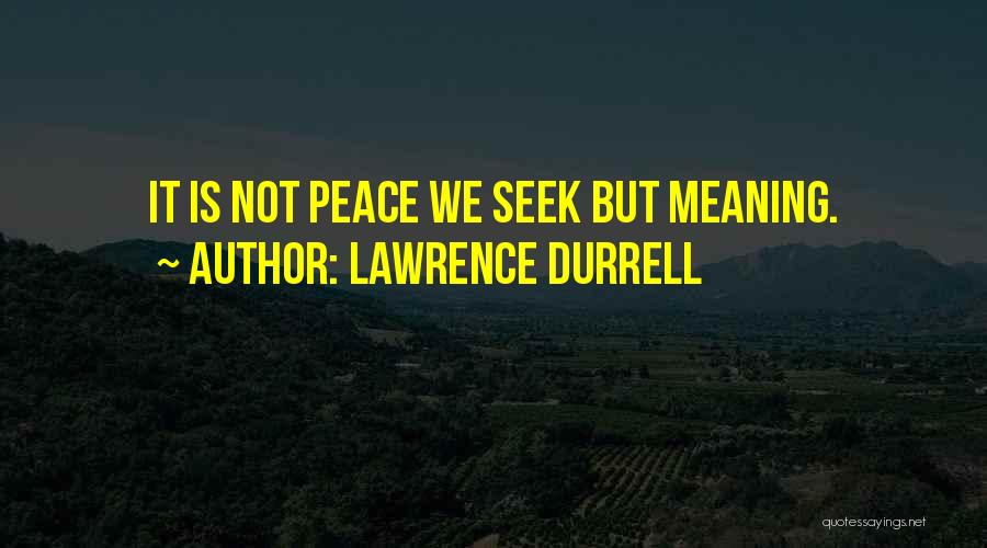 D.h. Lawrence Best Quotes By Lawrence Durrell