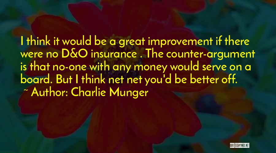 D&o Insurance Quotes By Charlie Munger