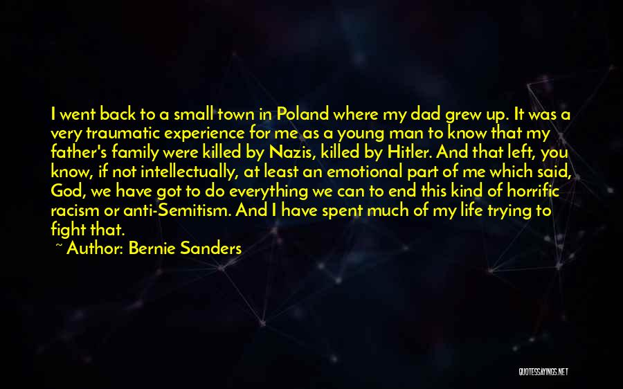 Dad Left Quotes By Bernie Sanders