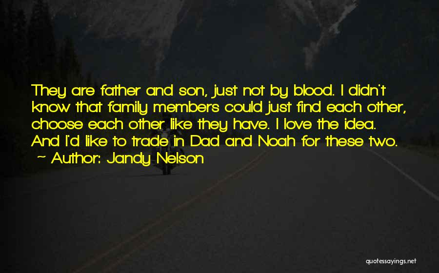 Dad N Son Love Quotes By Jandy Nelson