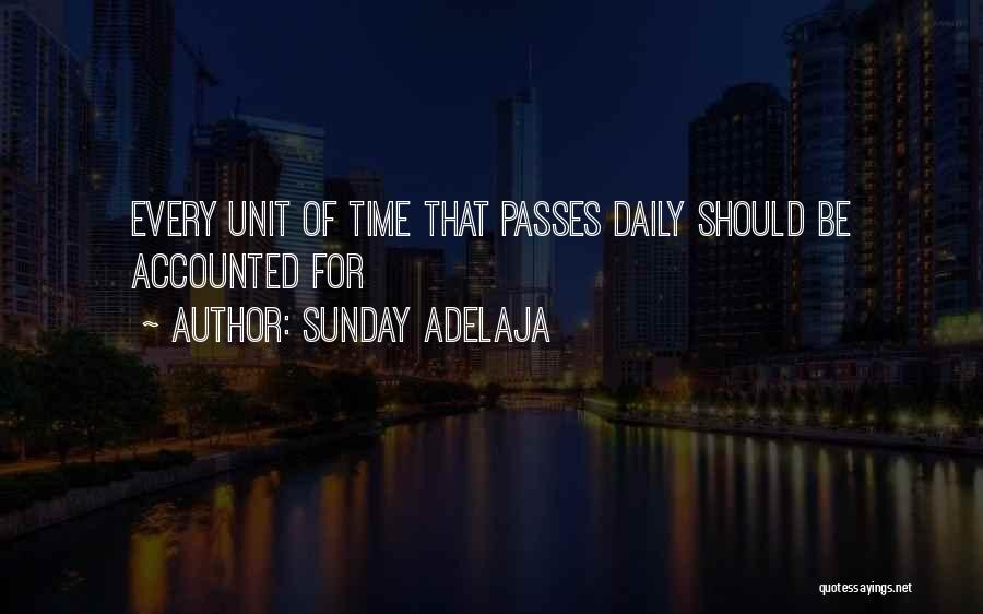 Daily Work Management Quotes By Sunday Adelaja