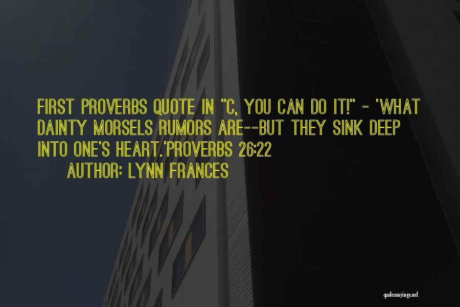 Dainty Quotes By Lynn Frances