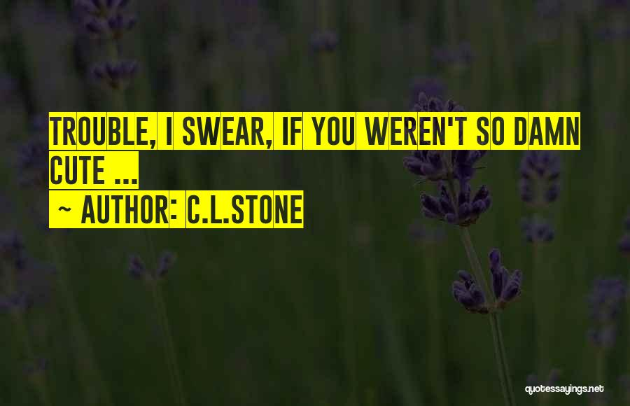 Damn Your Cute Quotes By C.L.Stone