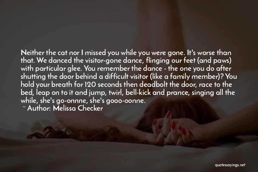 Dance Leap Quotes By Melissa Checker