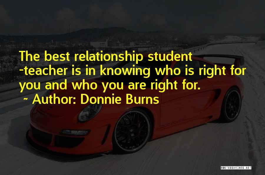 Dance Teacher Quotes By Donnie Burns