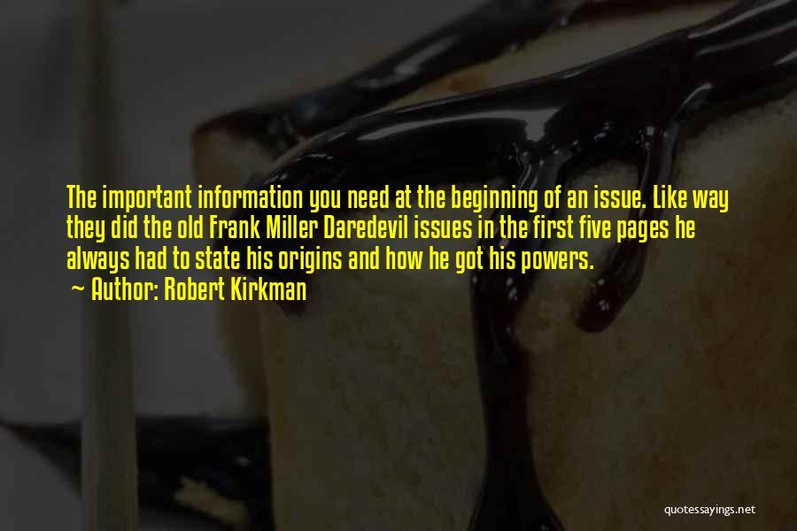 Daredevil Quotes By Robert Kirkman