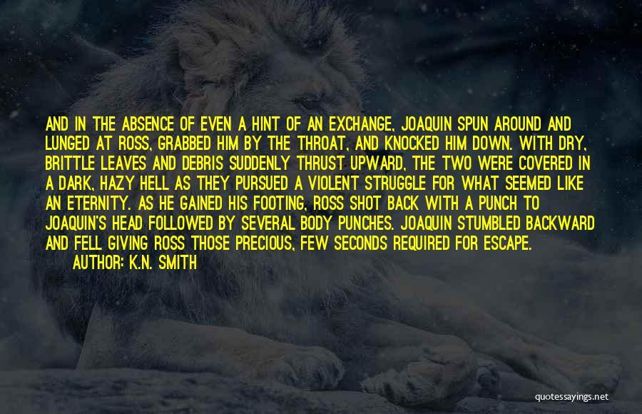 Dark Backward Quotes By K.N. Smith