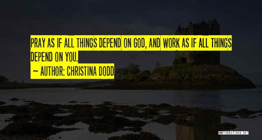 Dark God Quotes By Christina Dodd