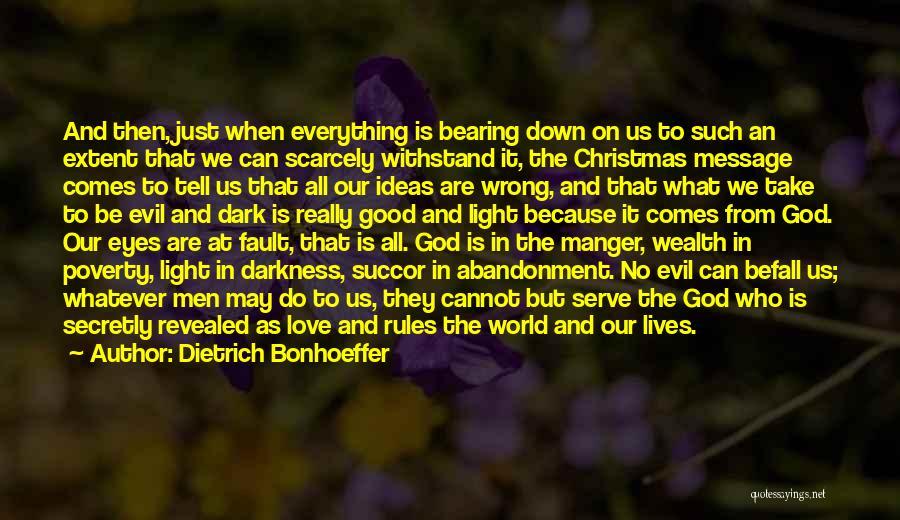 Dark God Quotes By Dietrich Bonhoeffer