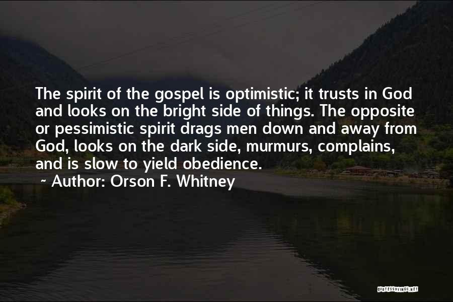 Dark God Quotes By Orson F. Whitney