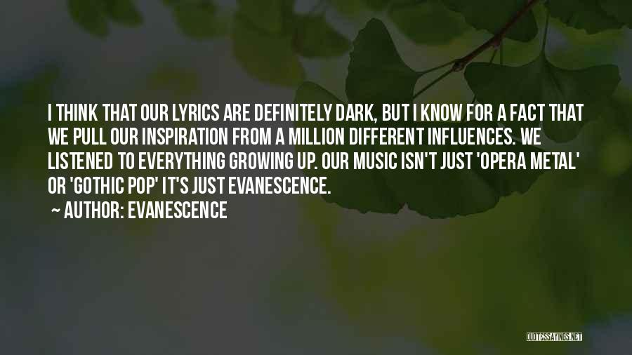 Dark Gothic Quotes By Evanescence