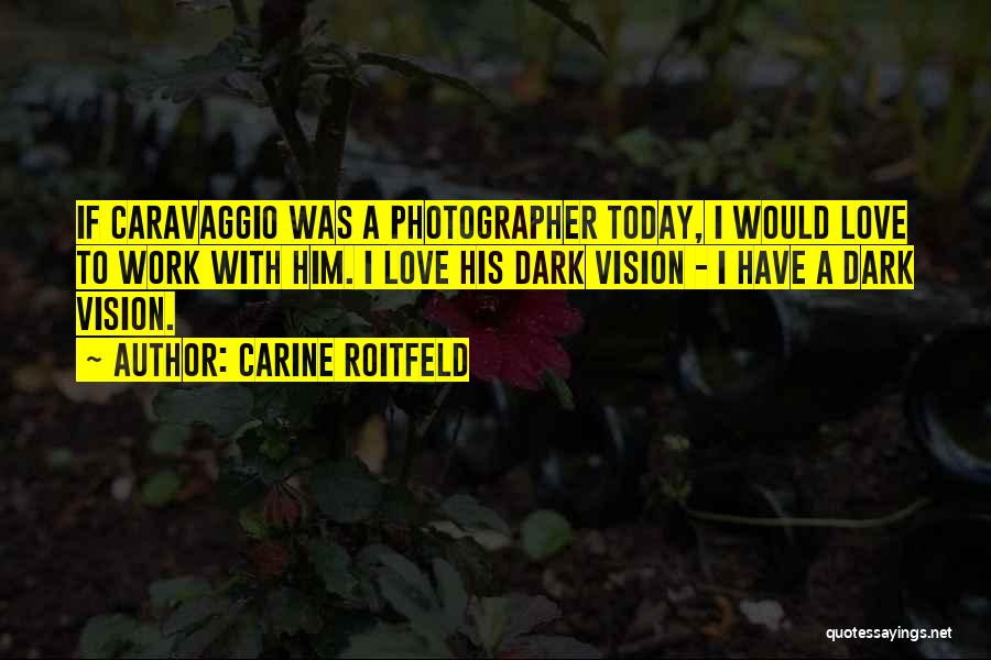 Dark Vision Quotes By Carine Roitfeld