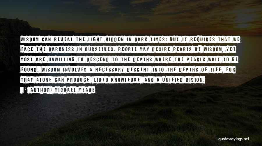 Dark Vision Quotes By Michael Meade