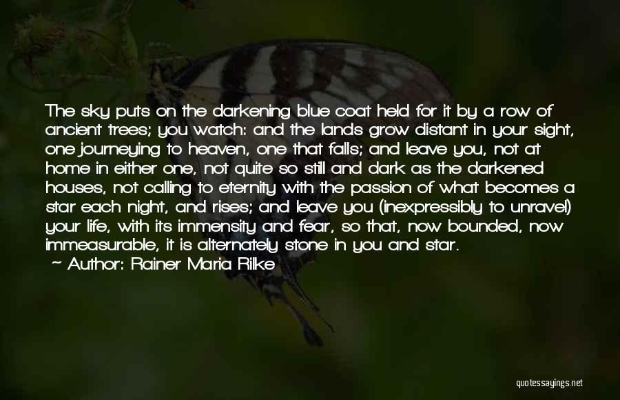 Darkening Quotes By Rainer Maria Rilke