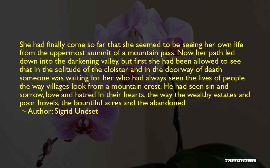 Darkening Quotes By Sigrid Undset